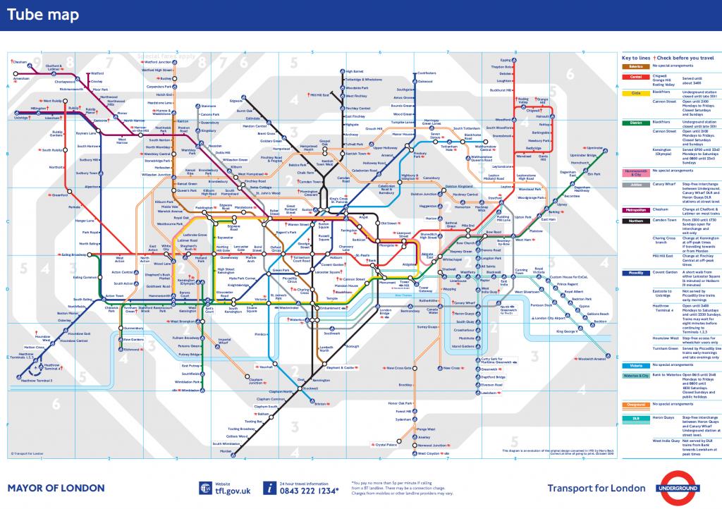 Plano del metro de Londres