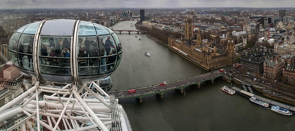 Las mejores vistas de la city de Londres las tendremos desde la London Eye
